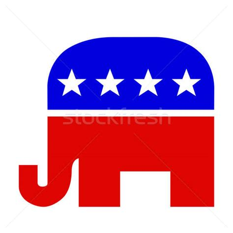 republican color blue or white and blue republican elephant stock photo