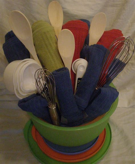 unique kitchen gift ideas gift baskets on towel cakes kitchen towel