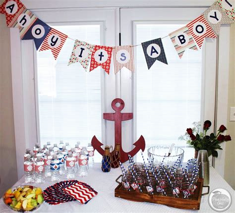 Baby Shower Decorations by Nautical Baby Shower Ideas Peachfully Chic
