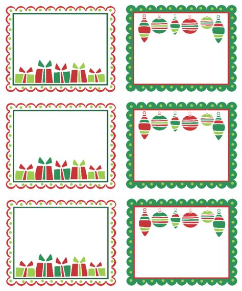 printable holiday address labels templates 8 best images of free christmas printable label template