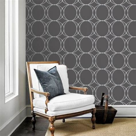 grey removable wallpaper oval geometric dark greyremovable wallpaper