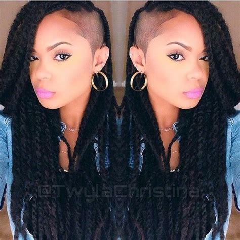 nubian hair long single plaits with shaved hair on sides 17 best ideas about short marley twists on pinterest