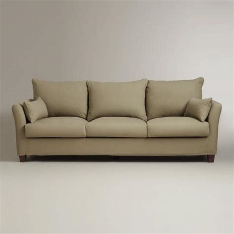 Three Seat Sofa Slipcover Luxe 3 Seat Sofa Slipcover World Market