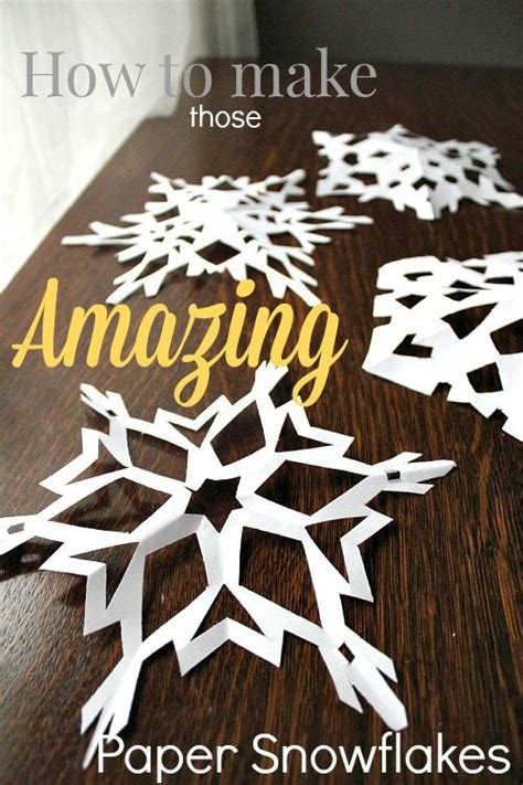 how to make those amazing paper snowflakes the creek