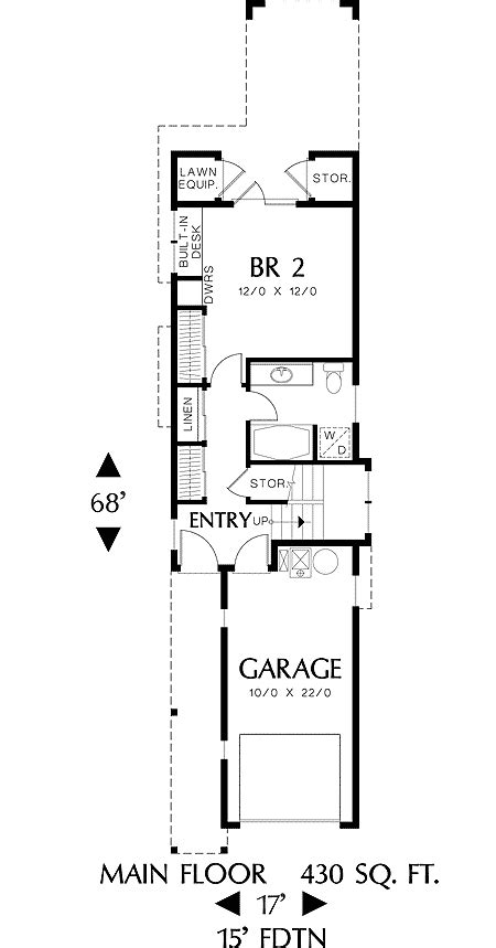narrow floor plans home plan for a narrow lot 6989am