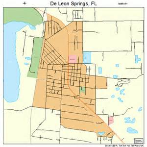 deleon springs florida map de springs florida map 1216975