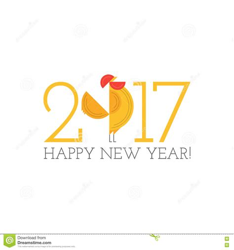 graphic design for new year year of rooster new year design graphic