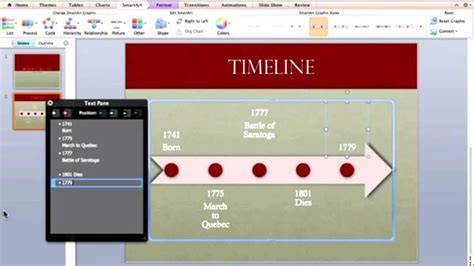 how do i make a powerpoint template creating a timeline in powerpoint