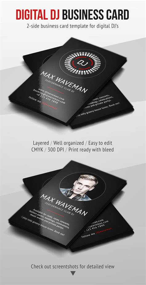 free dj business card psd templates digital dj business card psd template by iamvinyljunkie on