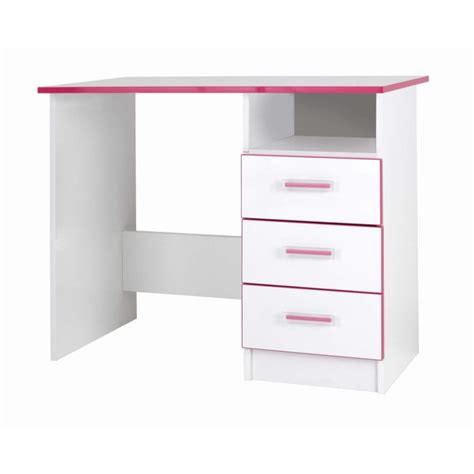 Grade A2 One Call Furniture Kiddi Pink Desk White Pink And White Desk