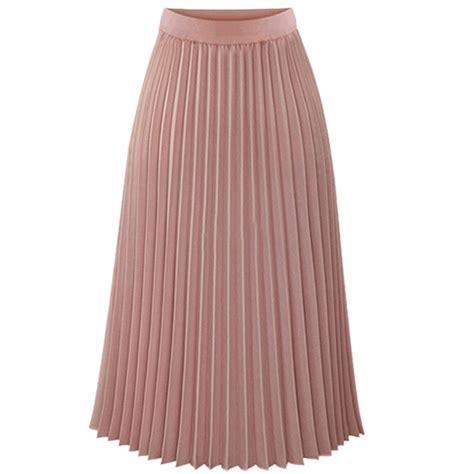 pleated skirt chiffon elastic waist