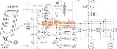 遥控电路 综合 电路图 电动单梁吊车无线电遥控器 tx315b1 电路图 中国百科网