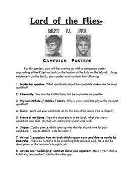 symbols in lord of the flies worksheet 28 lord of the flies character worksheet english