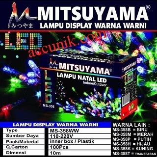 Lu Pohon Natal 100 Led 8 Mode Cahaya Putih Merk Sivicom jual lu led mitsuyama 10 meter n play rgb js lu natal hiasan pajangan tahan air