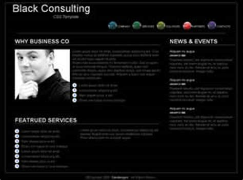 black consulting free website template free css