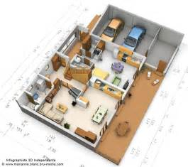 Plan 3d Plan 3d Maison Rdc By Meryana On Deviantart