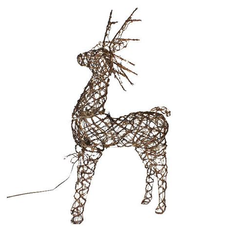 animated grapevine deer christmas decoration