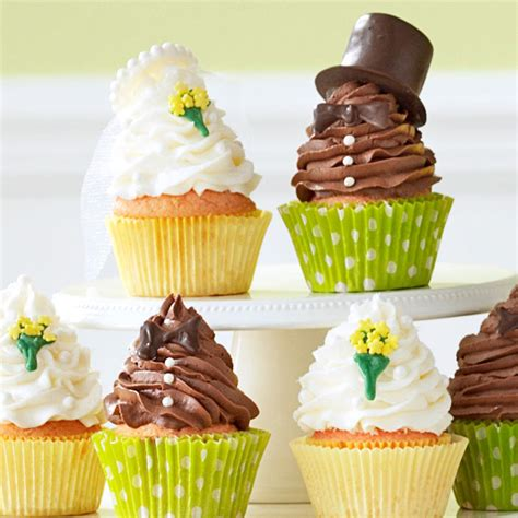 best wedding shower cupcake recipes and groom cupcakes recipe taste of home