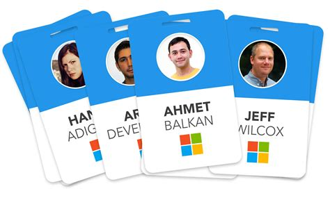 how to design id card in ms word the microsoft blue badge reimagined ux design