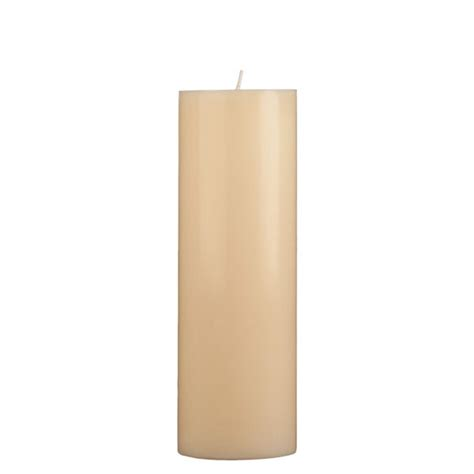 gold and cream pillar candles 3x9 pillar candle