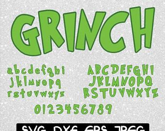printable grinch font grinch party etsy