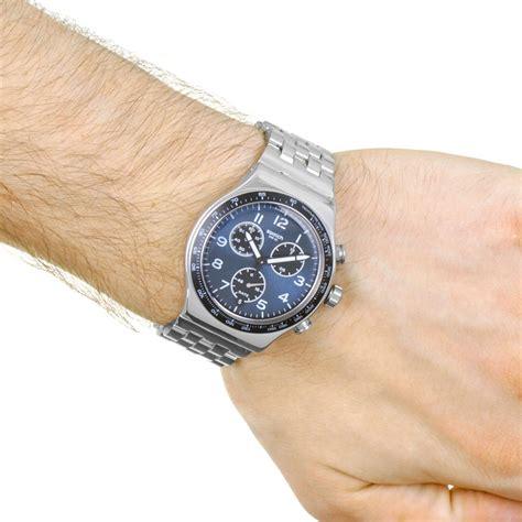 Swatch E swatch boxengasse orologio da uomo argento yvs423g it