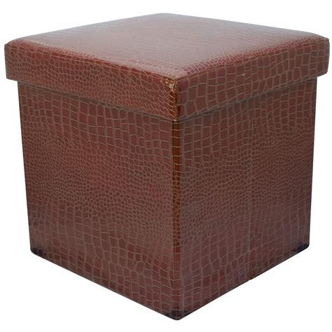 Cube Storage Stool by 38cm Folding Storage Pouffe Cube Foot Stool Seat Ottoman Box With Lid Dd31 Ebay