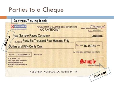 Who Is Drawer In Cheque drawee d 233 finition what is