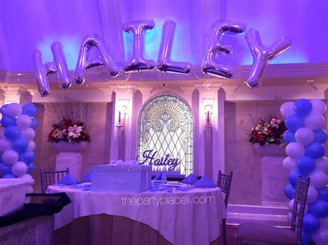 birthday decorations ideas at home blue theme decoration youtube tiffany themed sweet 16 thepartyplaceli com pinterest