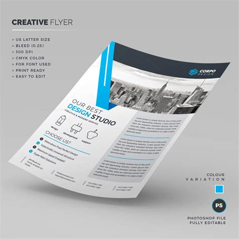 design studio templates design studio corporate flyer template 000220 template