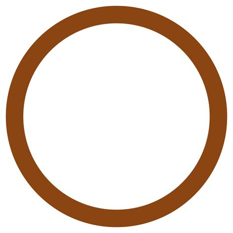 brown clip circle clipart brown pencil and in color circle clipart