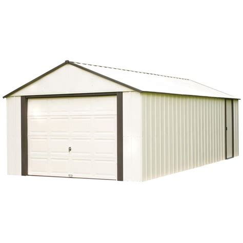 Metal Tool Sheds by Shop Arrow Vinyl Coated Steel Storage Shed Common 12 Ft