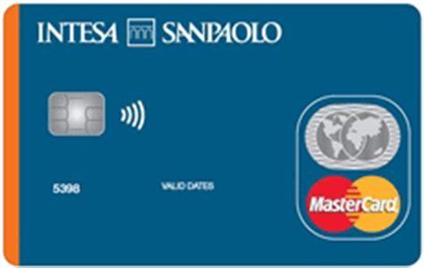 intesa carte carte di credito di intesa sanpaolo parte ii