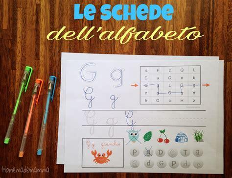 formare parole con delle lettere le schede dell alfabeto dalla a alla l