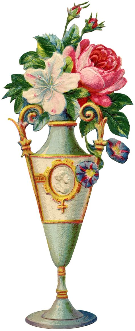 Antique Flower Vase by Floral Vase Image The Graphics