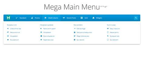 menu layout wordpress plugin mega main menu wordpress menu plugin by megamain