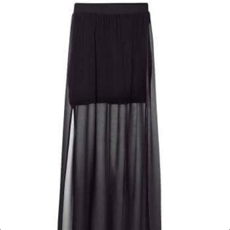 24 h m dresses skirts h m sheer maxi skirt with