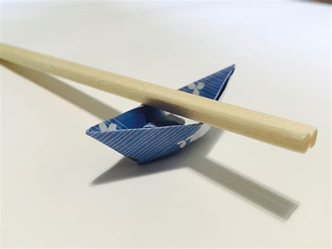 Chopsticks Holder chopstick holder origami boat in 13 easy steps