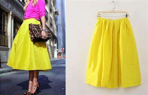 brand new taffeta faille neon lemon yellow midi skirt