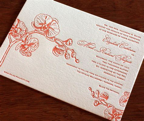 Wedding Invitations Oahu by Orchid Letterpress Wedding Invitation Design Oahu