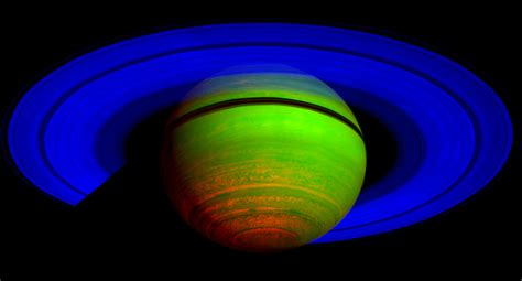 saturn colors nasa cassini s cirs reveals saturn is on a cosmic dimmer