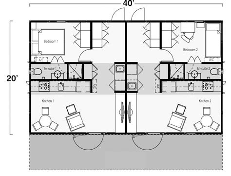 shipping container homes plans two bedroom two bath shipping container home floor plan