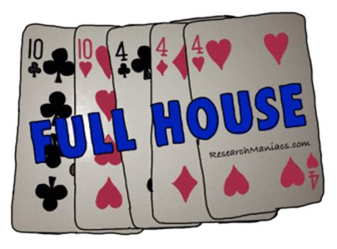 probability of full house poker hands probability