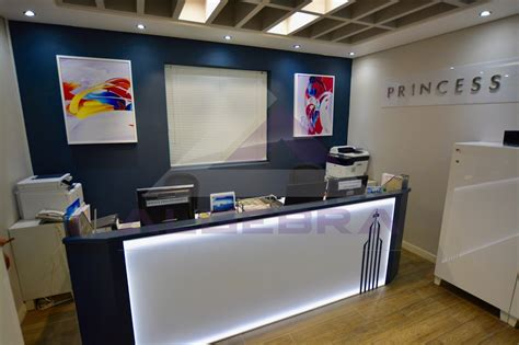 Custom Made Reception Desks Custom Made Reception Desk For Princess Tower Algebra Contracting