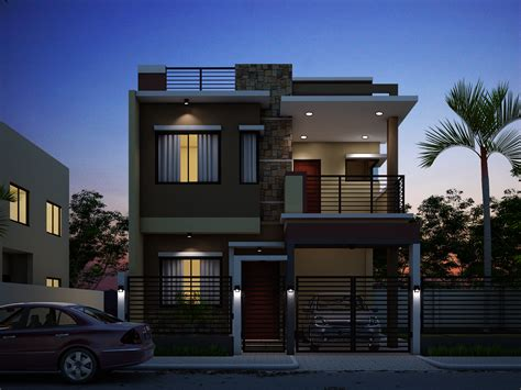 3 Bedroom 3 Bath Floor Plans by Breathtaking Double Storey Residential House Home Design