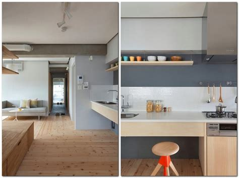 unusual l shaped apartment with no doors in japan home interior design kitchen and bathroom unusual l shaped apartment with no doors in japan decor
