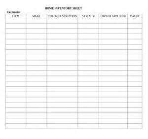 home inventory list template inventory list template 4 free word excel pdf