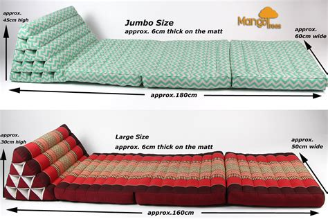 bed triangle pillow jumbo size thai triangle pillow fold out mattress cushion