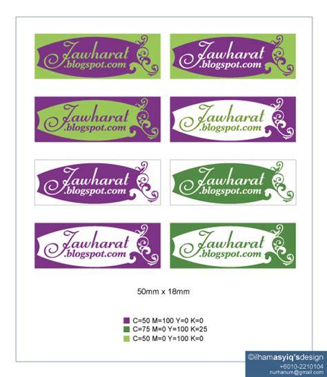 design untuk label tempahan design label contoh2 label di page 1 design
