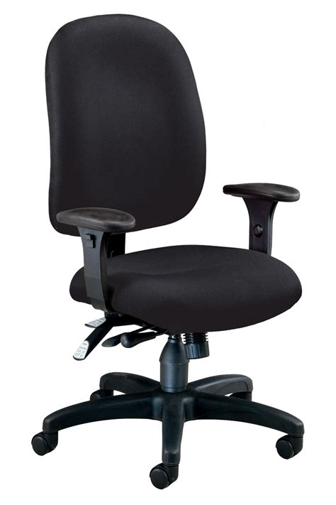 Task Chair 125 805 ofm ergonomic office task chair in black fabric